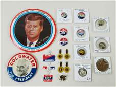 17 Political Pin Back Buttons
