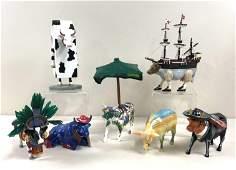 7 Cow Parade Figures