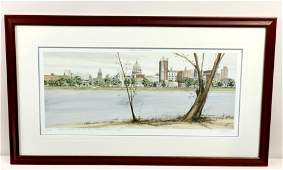 Dave Adams HBG Skyline From City Island Print