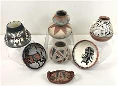 7 Pcs Native American Pottery Including Kewa