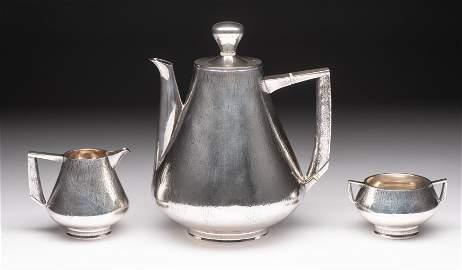3 Pc Peter Lunn Modernist Sterling Tea Set