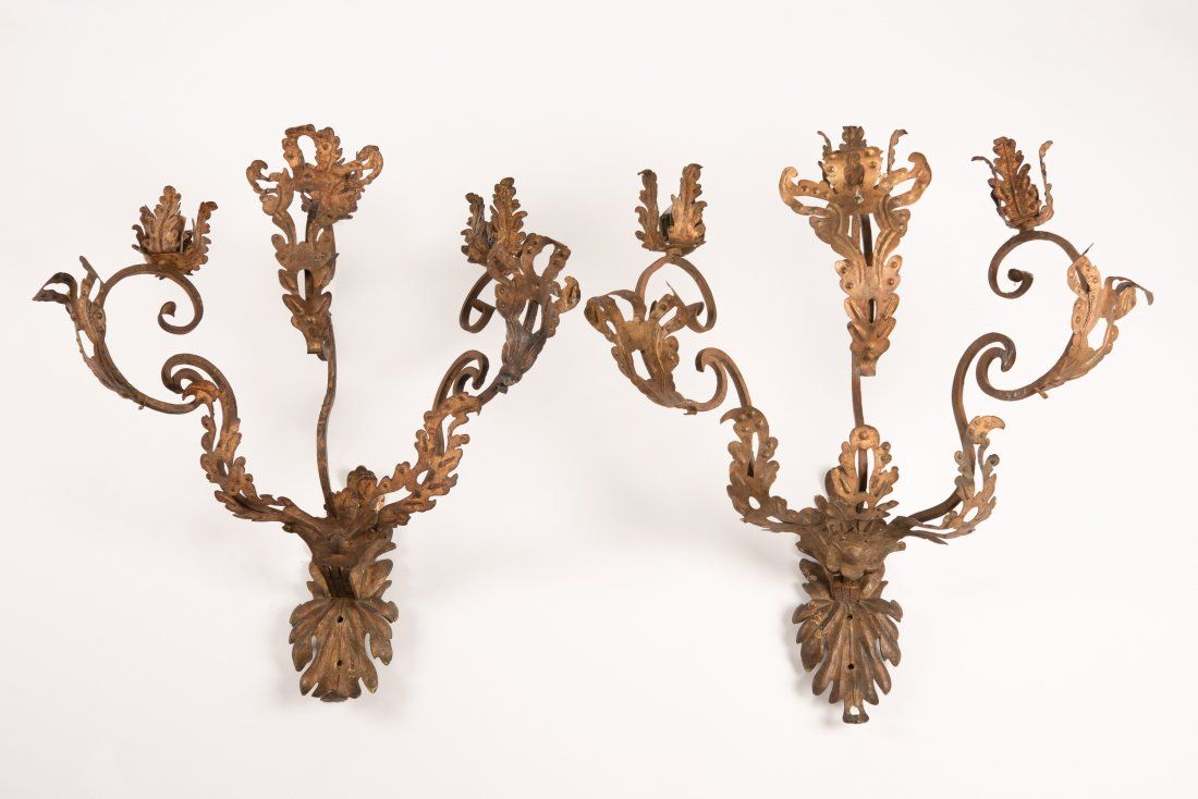 Pair of 17th Century Italian Baroque Wall Sconces