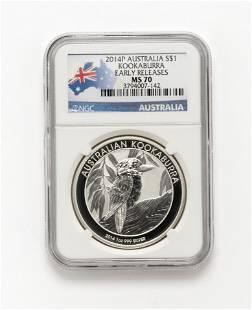 2014P Australia Dollar Coin NGC Graded