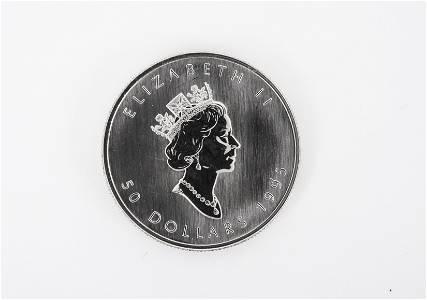 1995 Canadian 1 Oz Platinum $50 Coin