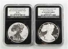 U.S Silver Eagle San Francisco Set (NGC Graded)