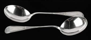 2 Bigelow & Kennard Boston Sterling Serving Spoons