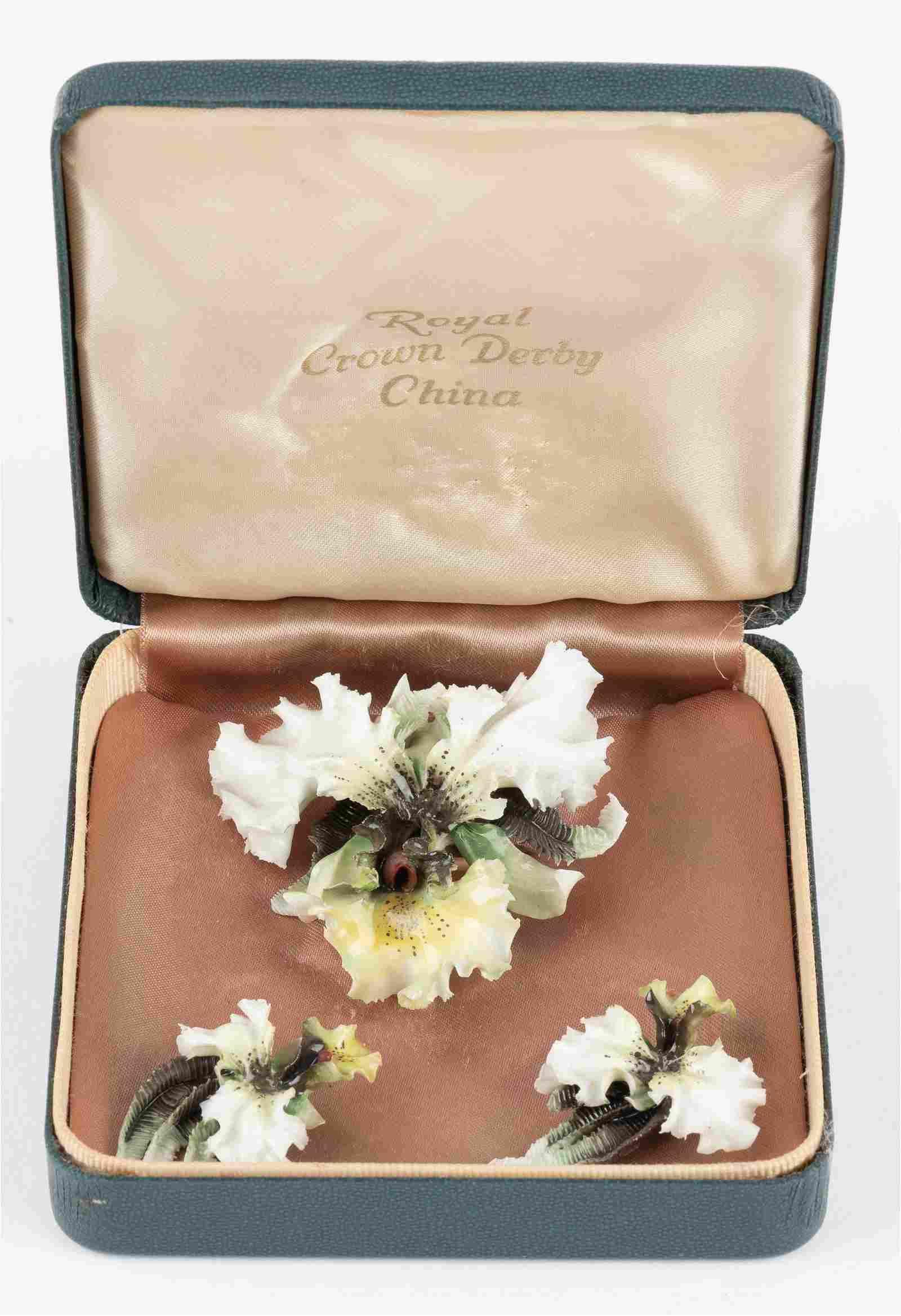 Royal Crown Derby Jewelry Set