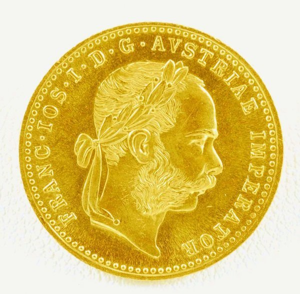 284: 1915 Austrian Ducat Gold Trade Coin