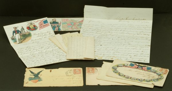 291: 7 Civil War Letters 7th Regiment PA State Guard