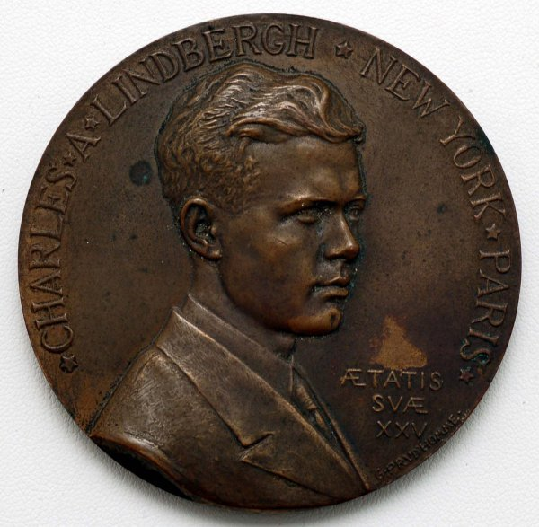 293: 1927 Charles Lindbergh Commemorative Medallion