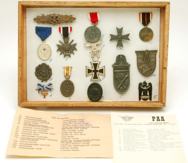 317: Collection of World War II German Medals