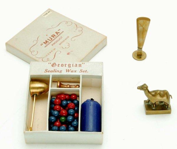 406: Seven Wax Letter Seals & Wax Sealing Set - 6