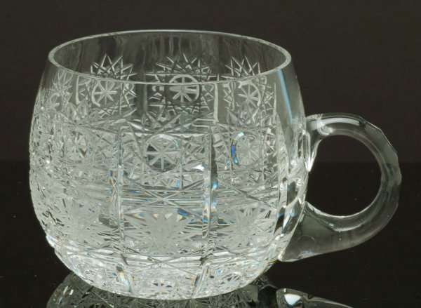 513: Queen Lace Crystal Punch Bowl Set - 3