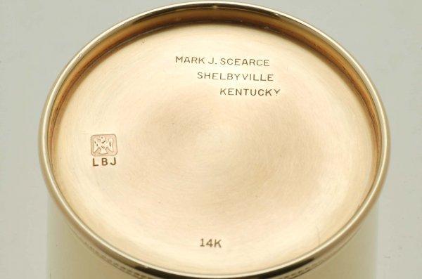 530: Mark J. Scearce Lyndon B. Johnson 14K Julep Cup - 4