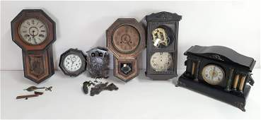 6 Wall and Mantle Clocks