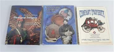 3 Reference Books incl. Militaria and Wells Fargo