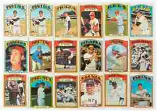 Over 400 1972 Vintage Baseball Cards