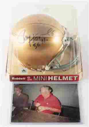 Paul Hornung Autographed Notre Dame Mini Helmet