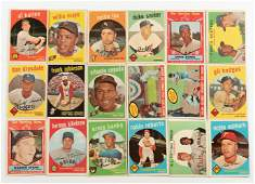 Over 300 Vintage Baseball Cards 1959