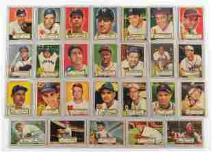 26 1952 Topps Cards