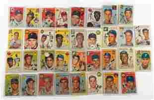 33 1954 Topps Cards