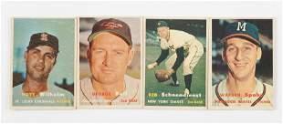 157 Topps Vintage Baseball Cards (1957)