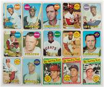 Over 600 Topps Vintage Baseball Cards 1969