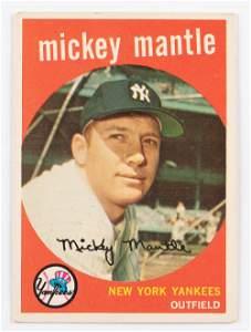 1959 Mantle Vintage Baseball Card