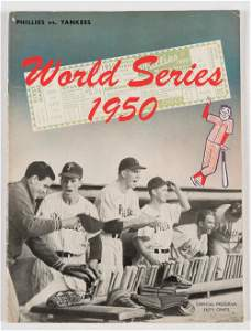 1950 World Series Program