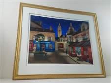 Liudmila Kondakova Street Cafe Lmt Ed Print