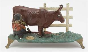 Milking Cow Mechanical Bank