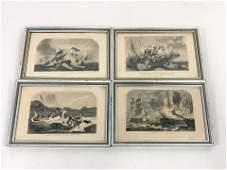 4 Antique Nautical Prints