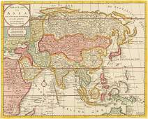 Tirion 1733 Map of Asia