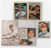 5 Autographed Baseball Cards Incl Hall of Fame