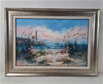Brian Roche Seaside Painting