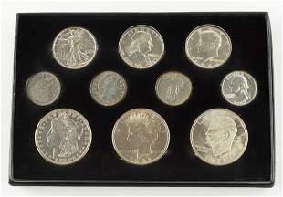 10 Pc Silver Coin Collection
