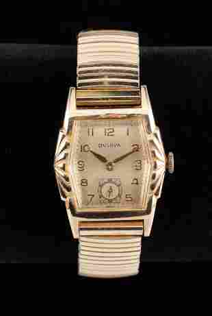 Men's Vintage Bulova 17J Art Deco Wristwatch