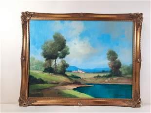 Toni Bordignon (French B.1927) Landscape Painting