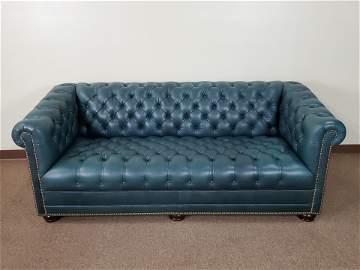 Hancock & Moore Tufted Leather Sofa