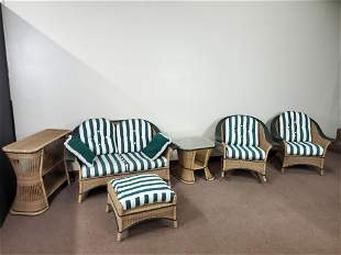 6 Pc Abel Wicker Outdoor Set