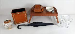 7 Pcs Household Items incl. Teak Serving Tray