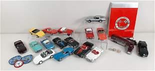 17 Model Corvettes incl. Franklin Mint