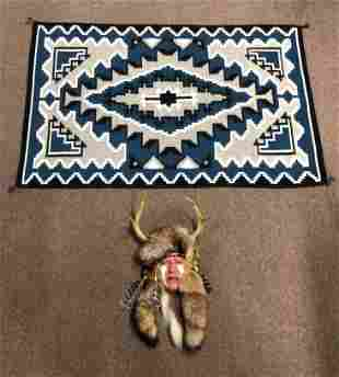 Native American Mask & Blanket