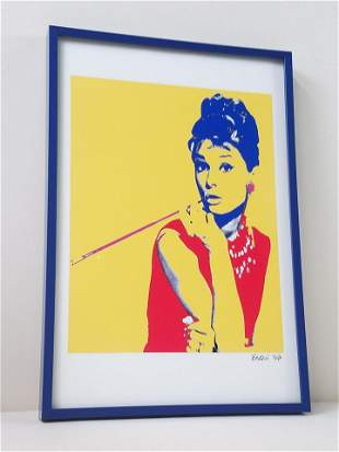Esqui Audrey Hepburn Pop Art Print