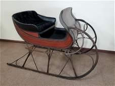 19th C Antique One Horse Sleigh