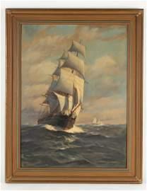 """Thomas Bailey """"The Williams"""" Oil on Canvas"""