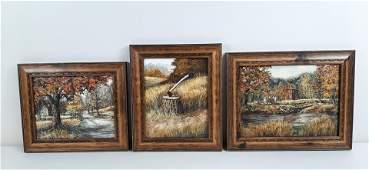 3 Richard K. Collopy Landscape Paintings