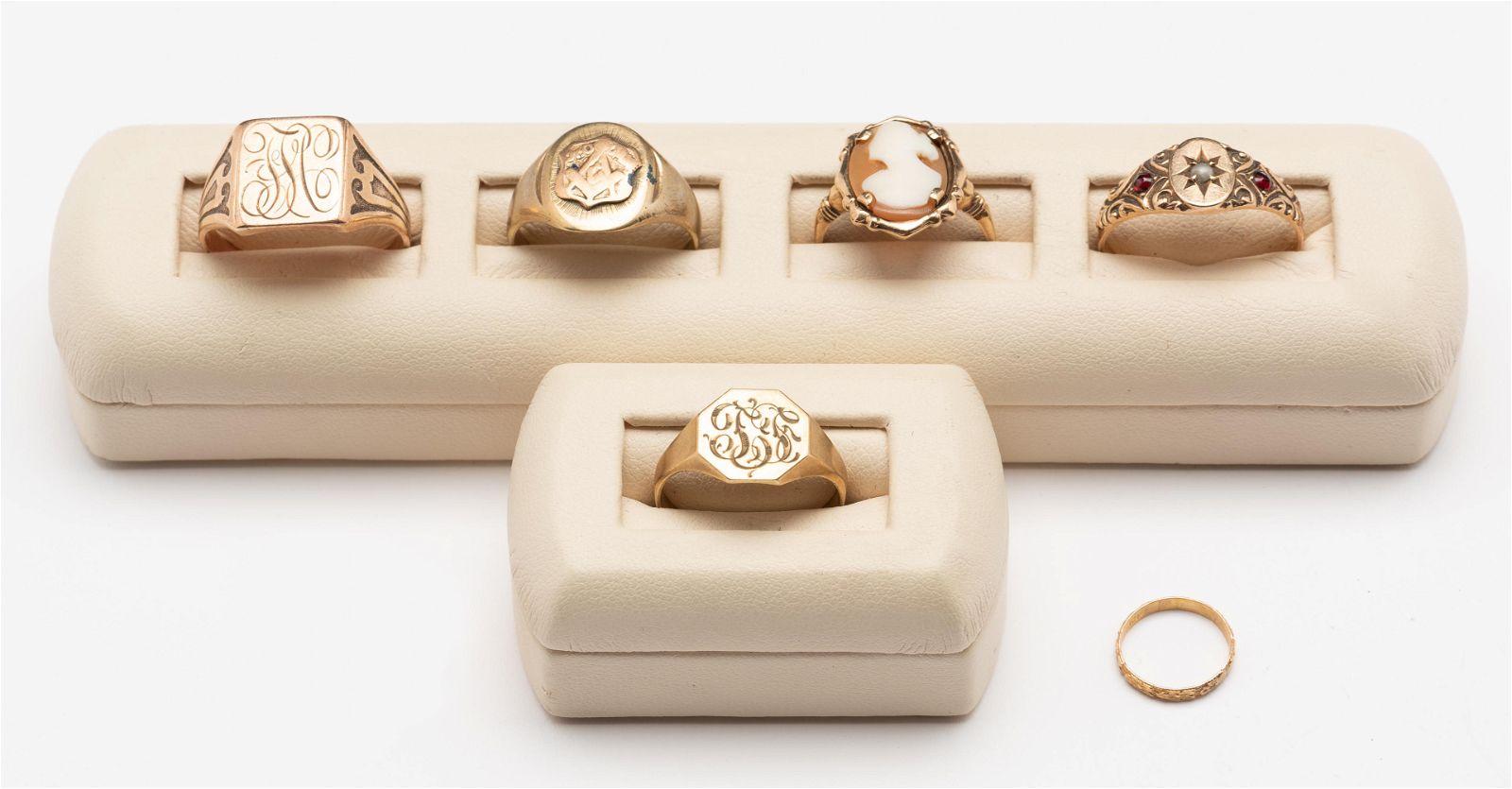 6 10K Rings