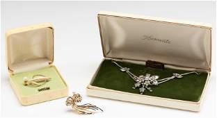 3 Pcs Vintage Jewelry Incl Krementz