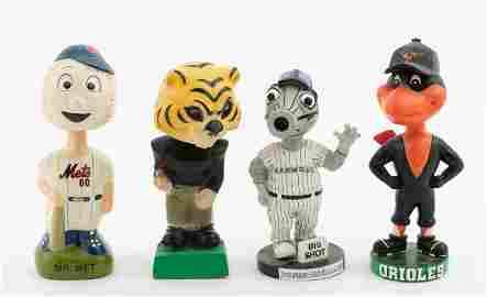 4 Vintage Mascot Bobbleheads